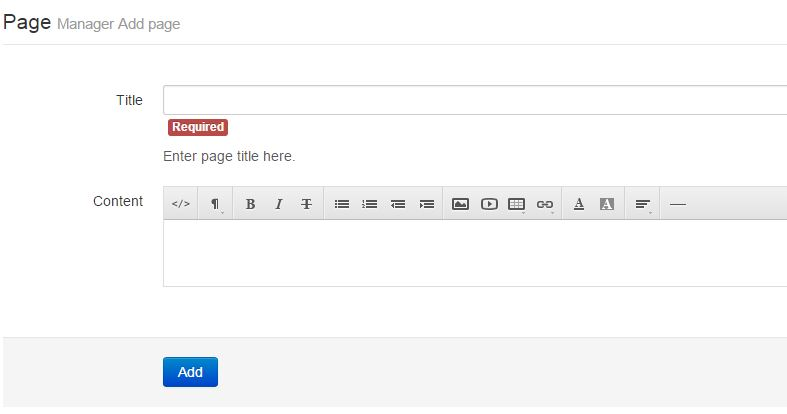 How to Add New Page - Step 2